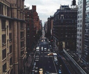 city, car, and street image