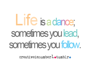 text, dance, and life image