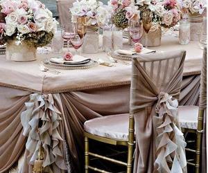 wedding, rose, and decoration image