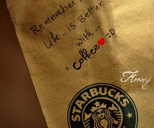 coffee, life, and starbucks image