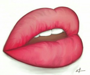 draw, lips, and mouth image