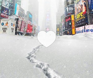 new york, snow, and winter image
