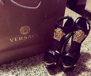 Versace, shoes, and heels image