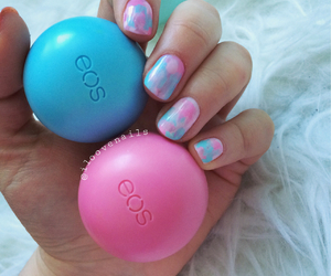 nails, blue, and eos image
