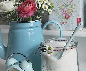 vintage, blue, and pink image