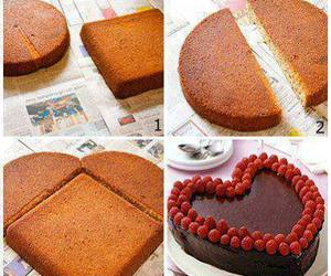 cake, diy, and heart image