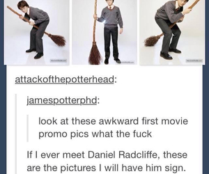 funny, awkward, and daniel radcliffe image
