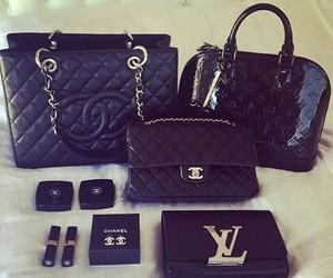 black, bag, and chanel image