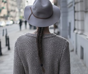 grey, hat, and style image
