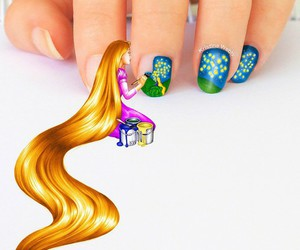 nails, rapunzel, and disney image