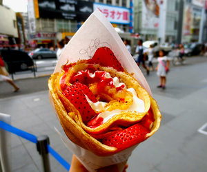 dessert, japan, and strawberry image