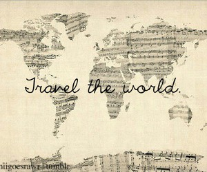 travel, world, and music image