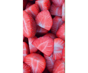 wallpaper, background, and strawberries image