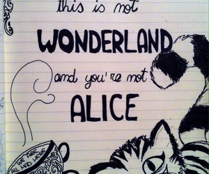 alice in wonderland and doodle image