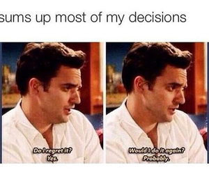 funny, decisions, and new girl image
