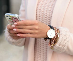 fashion, watch, and pink image