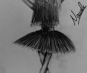 ballerina, black and white, and black image