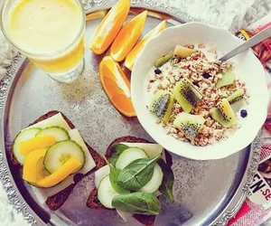 food, breakfast, and fit image