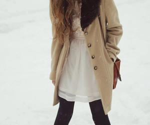 snow, girl, and fashion image