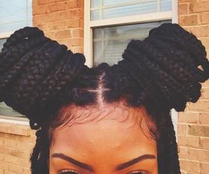 hair and box braids image