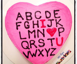 ABC, cake, and Valentine's Day image