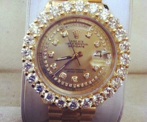 luxury, watch, and diamonds image