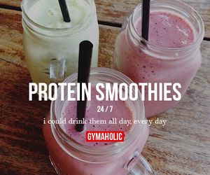 drink, protein, and smoothies image