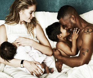 baby, girls, and interracial image