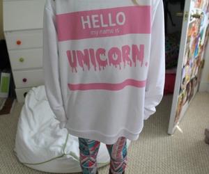 unicorn, pink, and grunge image