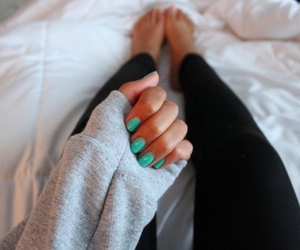 nails, tumblr, and sweater image