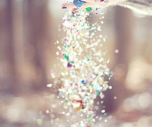 glitter, sparkle, and hands image