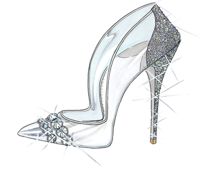 cinderella, shoes, and sparkle image