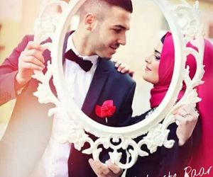 love, couple, and muslimah image