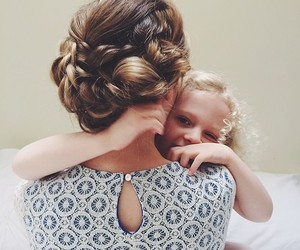 hair, child, and family image
