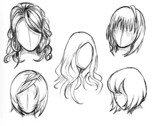 hair, draw, and hairstyle image