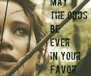hunger games, odds, and katniss everdeen image