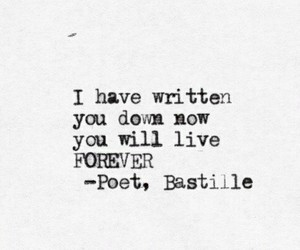bastille, poet, and quote image