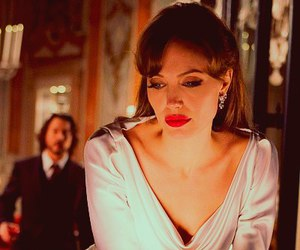 Angelina Jolie and red lips image