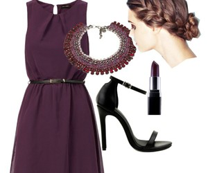 dress, hairstyle, and necklace image