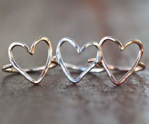 heart, jewelry, and rings image