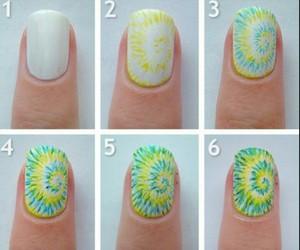 nails, diy, and green image