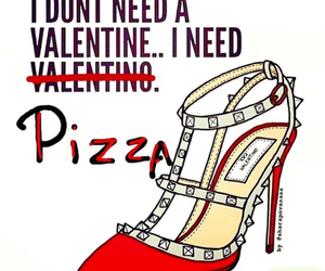 heels, pizza, and shoes image