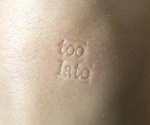 skin, too late, and Late image
