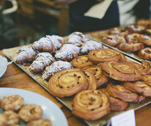food, croissant, and pastry image