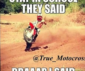 dirtbike, funny, and lol image