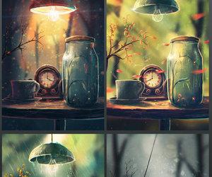 art, season, and spring image