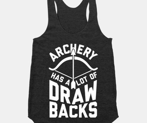 archery, bow and arrow, and archery shirt image