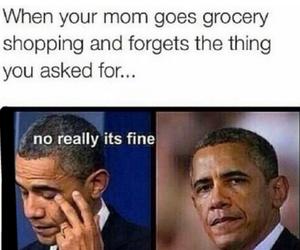 barack obama, funny, and mom image
