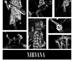 black and white, grunge, and mosh image