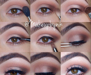 eye liner, makeup, and eye makeup image